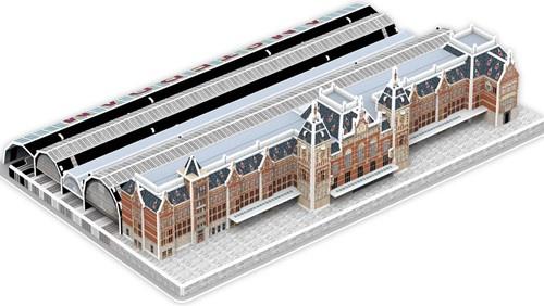 Nanostad 3D puzzel Centraal Station Amserdam karton 81 delig