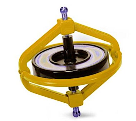 Navir gyroscoop Wonder junior 7,5 cm staal geel 2 delig