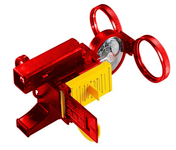 Navir multifunctioneel kompas Super junior 12 x 10 cm rood