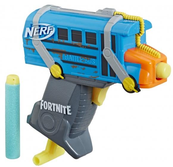 NERF Fortnite Microshots Battle Bus Blaster 13 cm blauw
