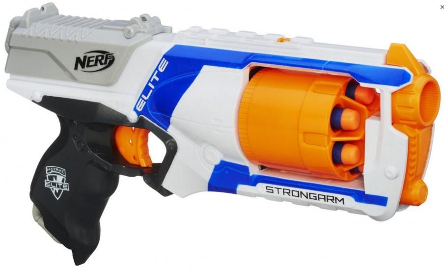Nerf N strike Elite Strongarm blaster 7 delig wit