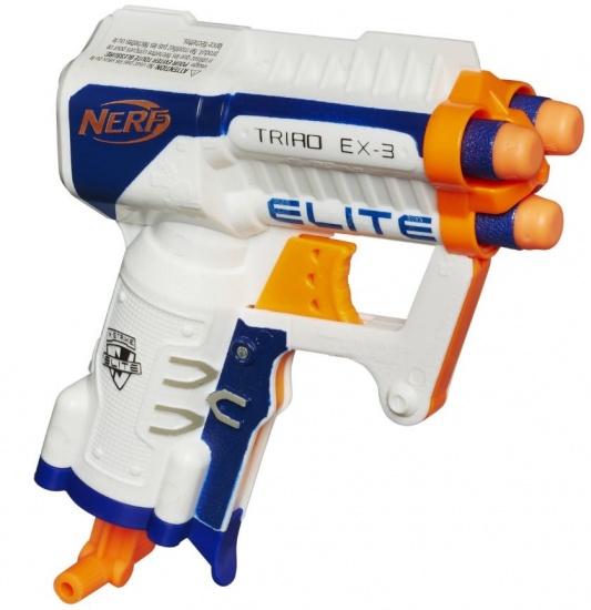 Nerf N strike Elite Triad Ex 3 XD blaster 4 delig wit