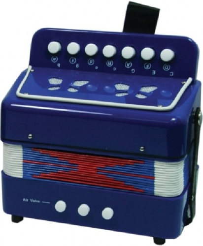 New Classic Toys Accordeon Blauw