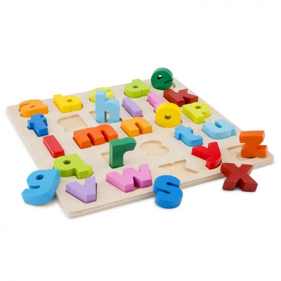 New Classic Toys alfabet puzzel kleine letters junior 30 cm hout 27 delig