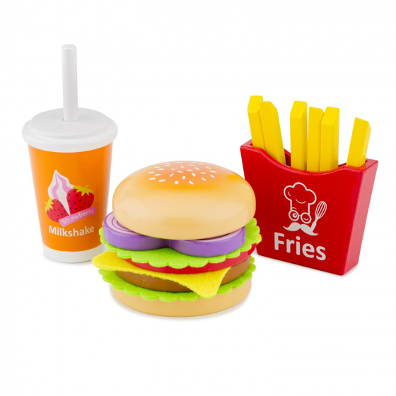 New Classic Toys fast food set junior hout 17 delig