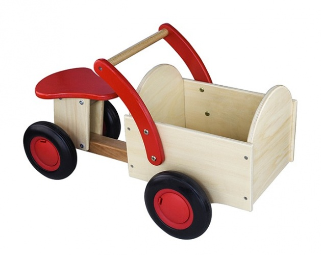 New Classic Toys Houten Bakfiets Rood/Blank