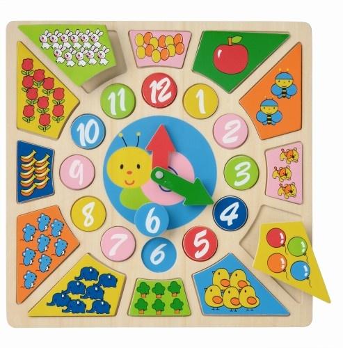New Classic Toys Houten Multi Klok (8250)
