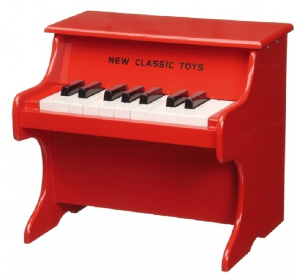 New Classic Toys Houten Piano 18 Toetsen Rood