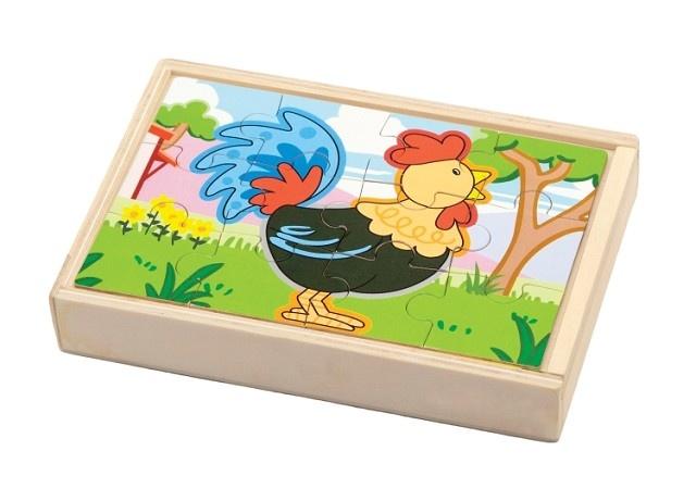 New Classic Toys Houten Puzzel Boerderij