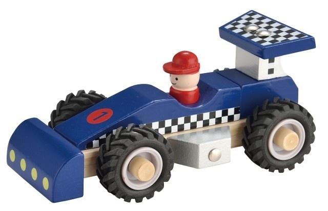 New Classic Toys Houten Raceauto Blauw