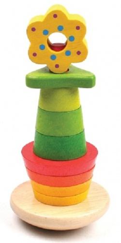 New Classic Toys Houten Stapelfiguur Bloem
