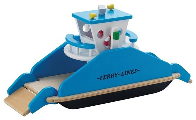 New Classic Toys Houten Veerboot Met Wieltjes
