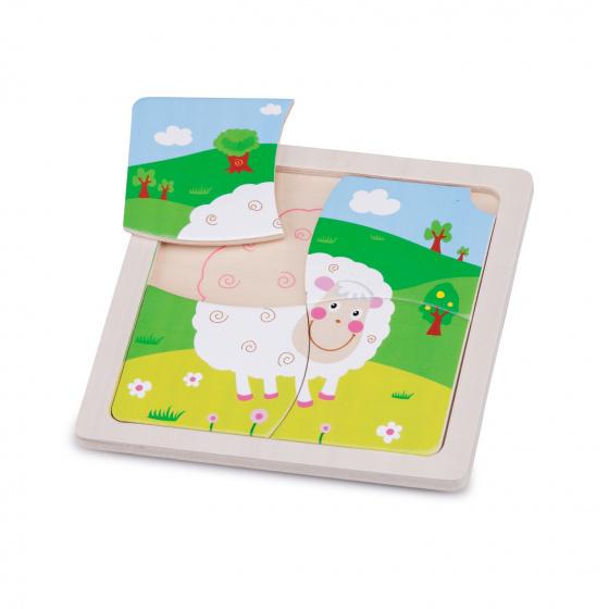 New Classic Toys mini puzzel schaap