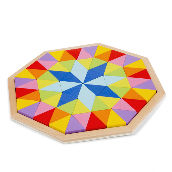 New Classic Toys octagon puzzel junior 29,5 cm hout 73 delig