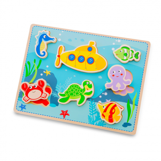 New Classic Toys puzzel Chunky Sea junior 30 cm hout 8 delig