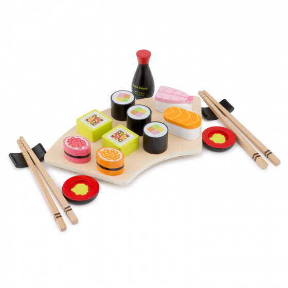 New Classic Toys sushi set junior 29 cm hout 19 delig