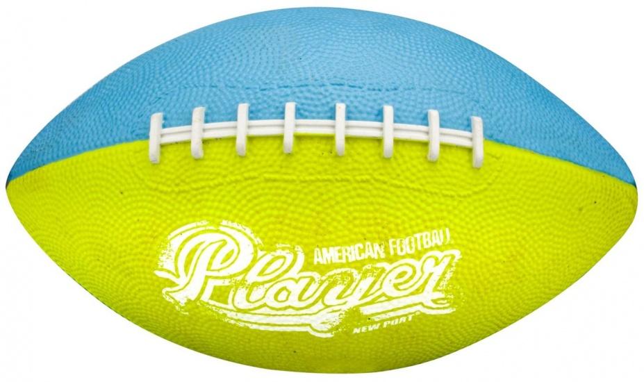 New Port American Football Mini Azuurblauw/Lichtgroen/Wit