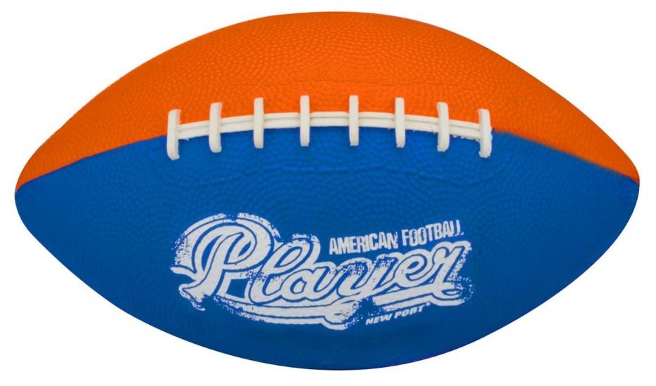 New Port American Football Mini Oranje/Blauw/Wit