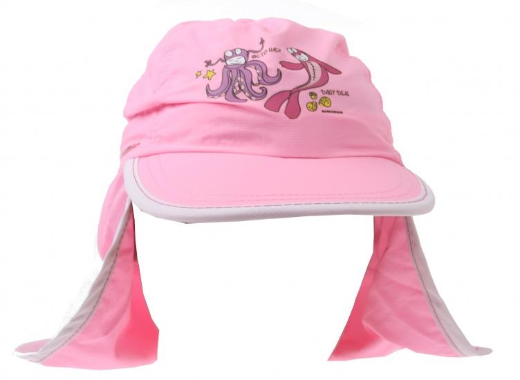New Port UV Cap Meisjes Met Achterflap Roze Slim Fit