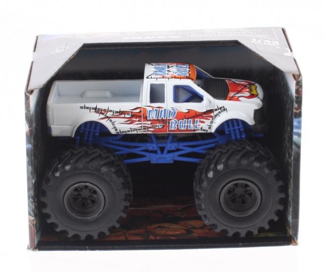 Newray DC Monster Truck schaal 1:43 wit metaal