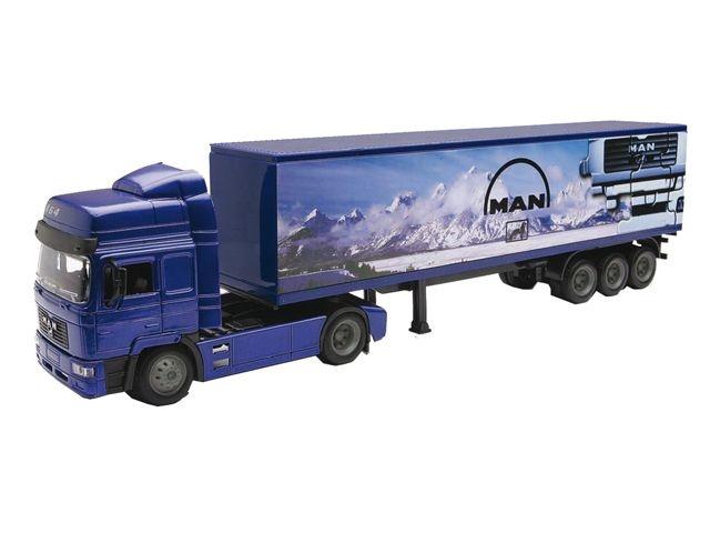 Newray Man F2000 Vrachtwagen 1:43 Blauw