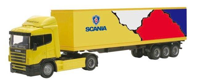 Newray Scania R124/400 Vrachtwagen 1:43 Geel