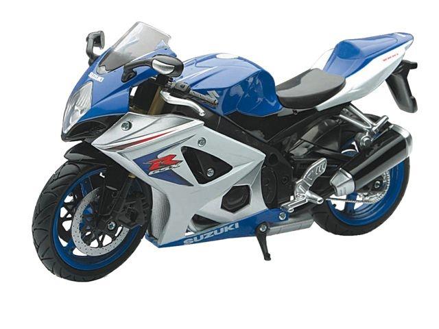 Newray Suzuki GSX R Motorkit Blauw Wit 1:12