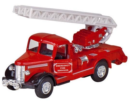 Welly Metalen Brandweer: Ladderwagen 13,5 cm