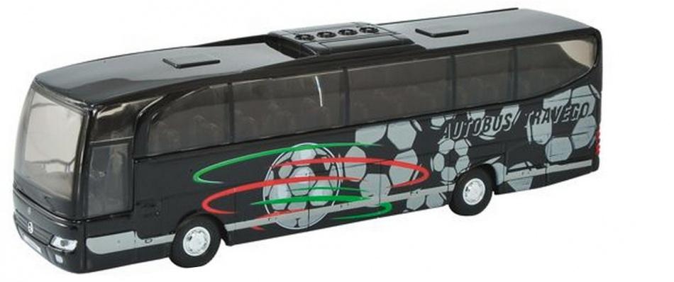 Welly Metalen Bus Travego: 18 cm Zwart