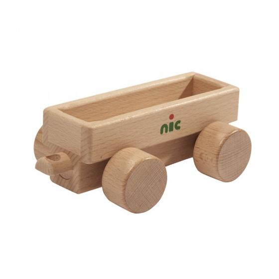 Nic aanhanger zonder voertuig 16 cm blank hout