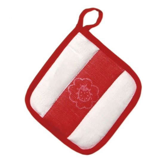 ovencloth red/white 15 cm