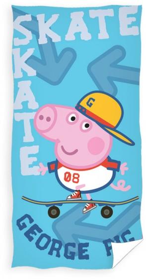 Nickelodeon badlaken Peppa Pig skate 70 x 140 cm blauw kopen