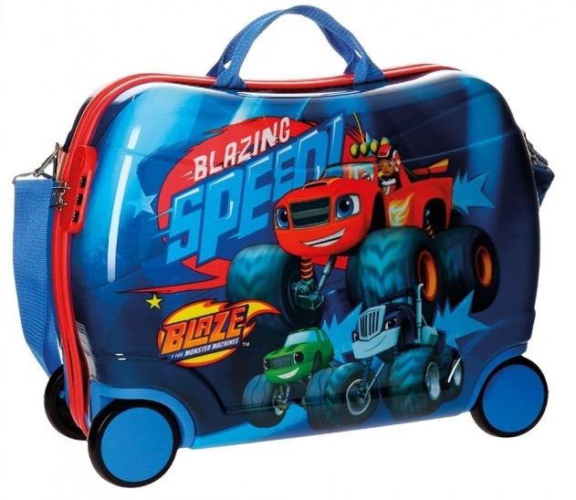 Nickelodeon Blaze Race koffer 38 x 50 x 20 cm blauw