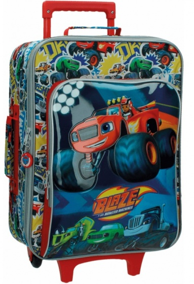 Nickelodeon Blaze soft trolley 50 x 35 x 20 cm blauw
