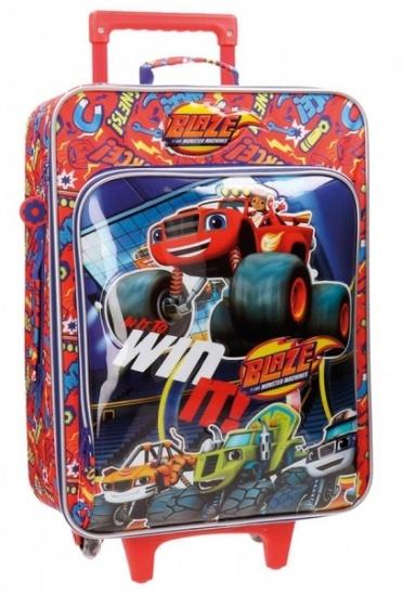 Nickelodeon Blaze soft trolley 55 x 35 x 20 cm blauw