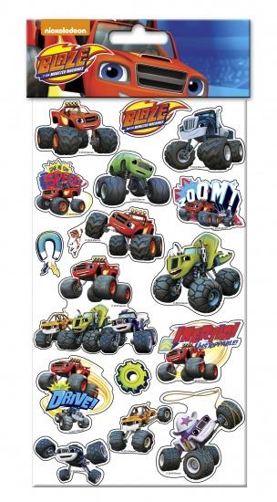 Nickelodeon Blaze Stickervel 23 x 13 cm