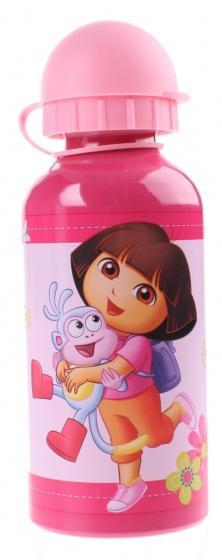 Nickelodeon Dora Bidon Aluminium 400 ml roze