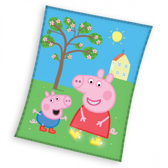 Nickelodeon fleecedeken Peppa Pig junior 110 x 140 cm fleece