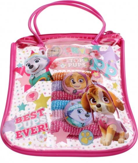 Nickelodeon giftbag met haaraccessoires Paw Patrol 15 cm roze