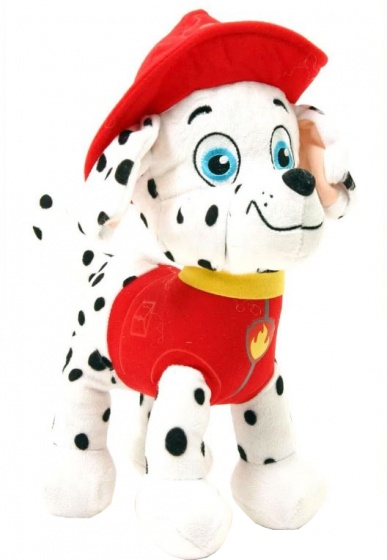 Nickelodeon knuffel Paw Patrol Marshall 28 cm wit/rood