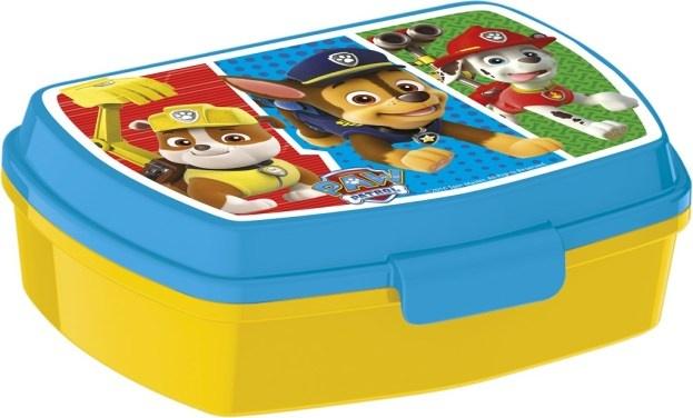 Nickelodeon Paw Patrol Colors broodtrommel 1 liter groen/blauw