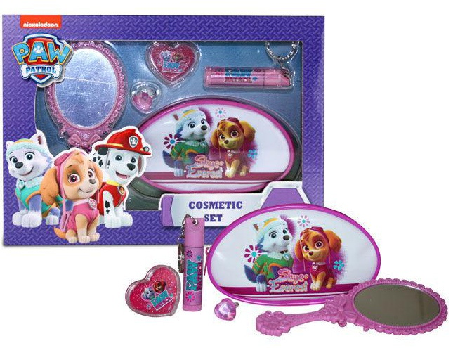 Nickelodeon Paw Patrol cosmetica set 5 delig roze