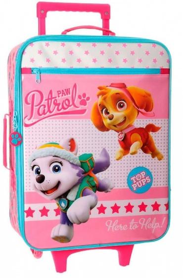 Nickelodeon Paw Patrol soft trolley 50 x 35 x 20 cm roze
