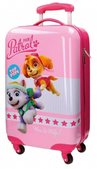 Nickelodeon Paw Patrol Top Pups trolley 55 x 36 x 20 cm roze