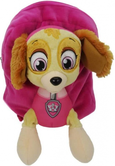 Nickelodeon pluche rugzak Paw Patrol meisjes roze 6 liter