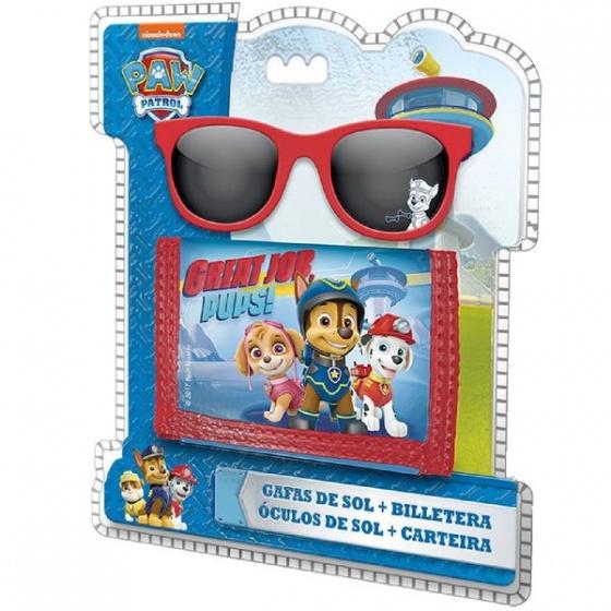 Nickelodeon portemonnee en zonnebril Paw Patrol 2 delig