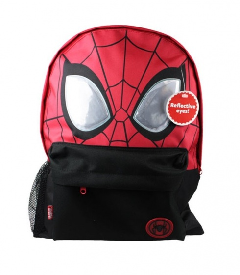 Nickelodeon rugzak Spiderman reflective eyes 14 liter rood