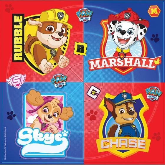 Nickelodeon servetten Paw Patrol 33 cm 16 stuks multicolor