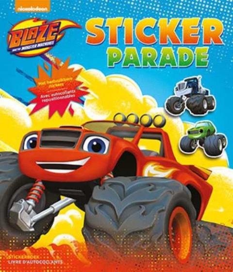 Nickelodeon Aufkleber und Malbuch Blaze 28 cm - Internet-Toys