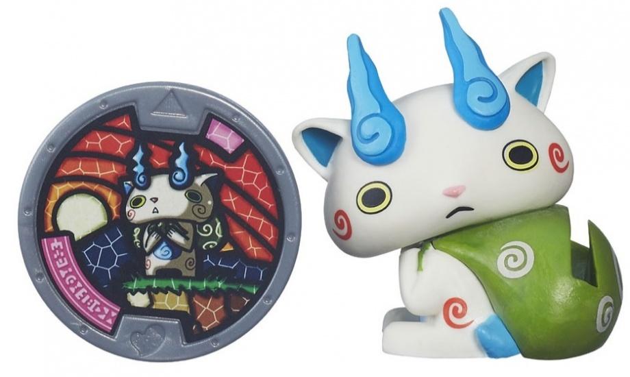Hasbro Yo Kai Medal Moments Komasan wit/groen/blauw
